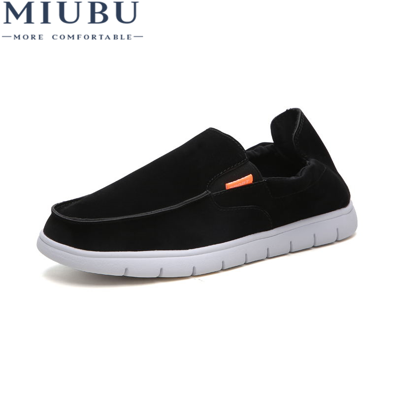 MIUBU High Quality Hot Men Shoes Fashion Retro Low To Help Denim Canvas MenS For Man New Top Casual