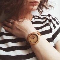 BOBO LF29 PÁSSARO Cinto de Couro Senhoras Relógios De Madeira com Cabeça de Veado em o Dial Envoltório com Caixa de Presente Pode Enviar da Rússia para a Rússia
