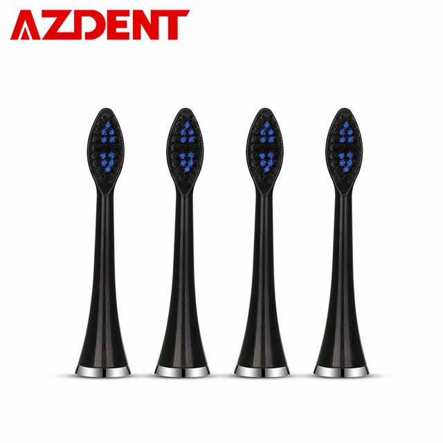 AZDENT 4pc Replacement Heads Fit for AZDENT AZ-5 Pro Sonic Electric Toothbrush Smart 5 Modes Toothbrush Oral Hygiene Deep Clean