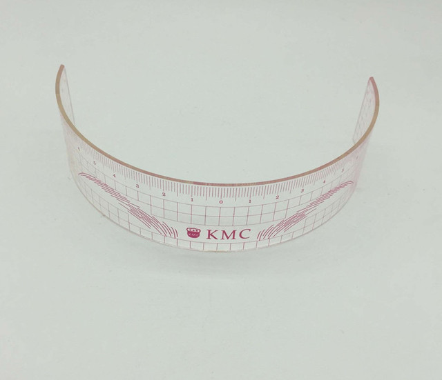 10Pcs Permanent Makeup Stencils Plastic Eyebrow Ruler KMC Tattoo Cosmetic Shaping Tool For The Beginers 2