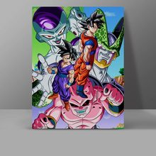 Enemies Of Goku And Gohan Canvas Painting Cell Frieza Buu Wall Pictures Dragon Ball Z Bedroom HD Print Home Decor