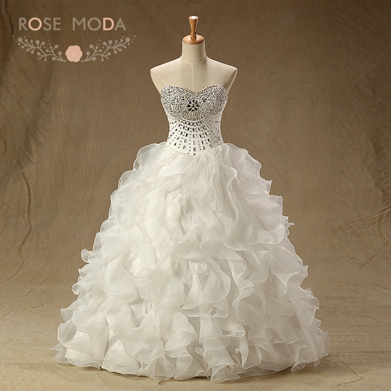 Rose Moda Bling Crystal Quinceanera Dresses Sweetheart ...