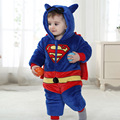 Хэллоуин новорожденного младенца мальчики супермен костюм ребенка супергерл с hat