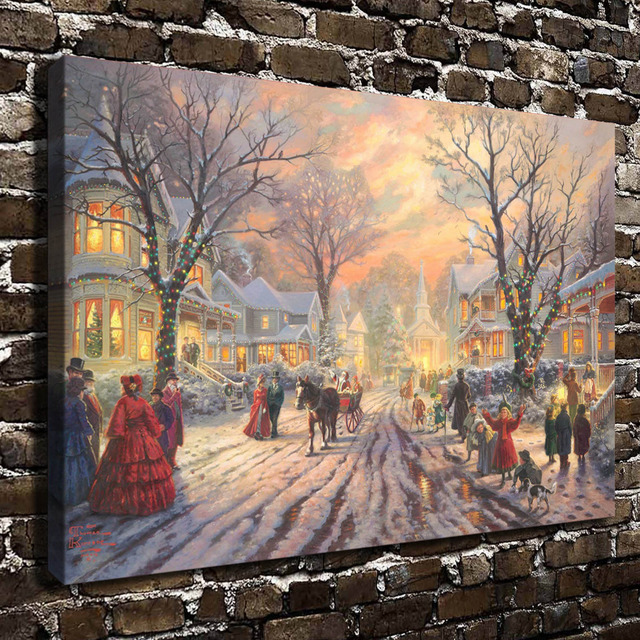 Aliexpress.com : Buy H1127 Thomas Kinkade Victorian Christmas ...