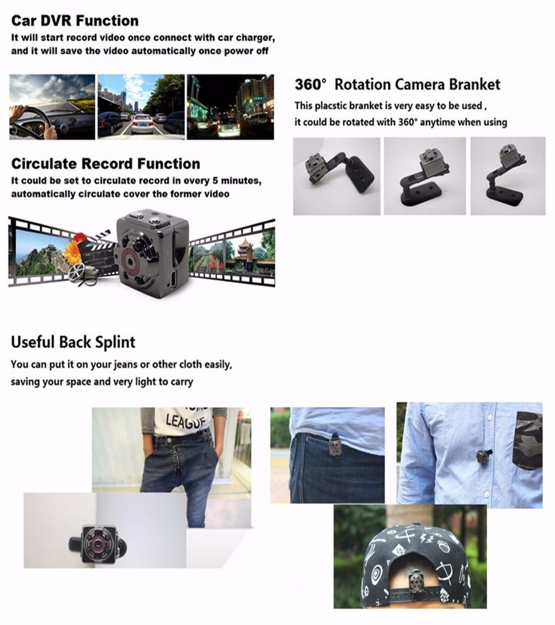 Sport Action Mini Camera HD 1080P 720P SQ8 Camera Recorder Kamera DV Video Recorder Infrared Night Vision Digital Usb Cameras  (35)