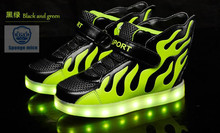 2017 new led light shoes children wings light shoes usb rechargeable colorful luminous shoes shoes