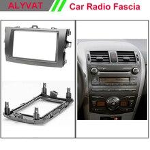 Car 2 Din Fascia facia panel plate frame for TOYOTA Corolla 2007 2008 2009 2010 2013 Stereo Dash CD Facia Trim Installation Kit