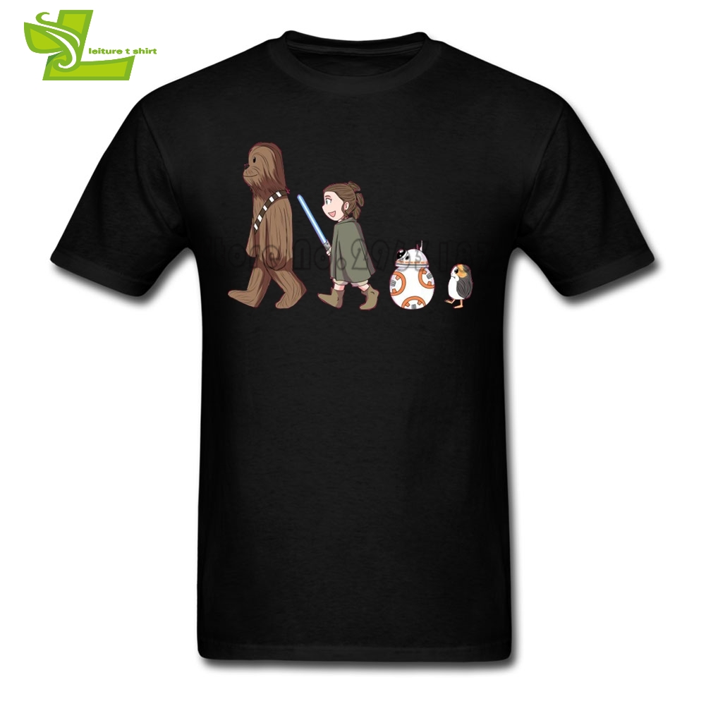 Chewbacca & Rey & BB8 & Porg Star Wars T Shirt Men's Summer O Neck Personalized Tees Adult New Arrival Oversize Tshirt