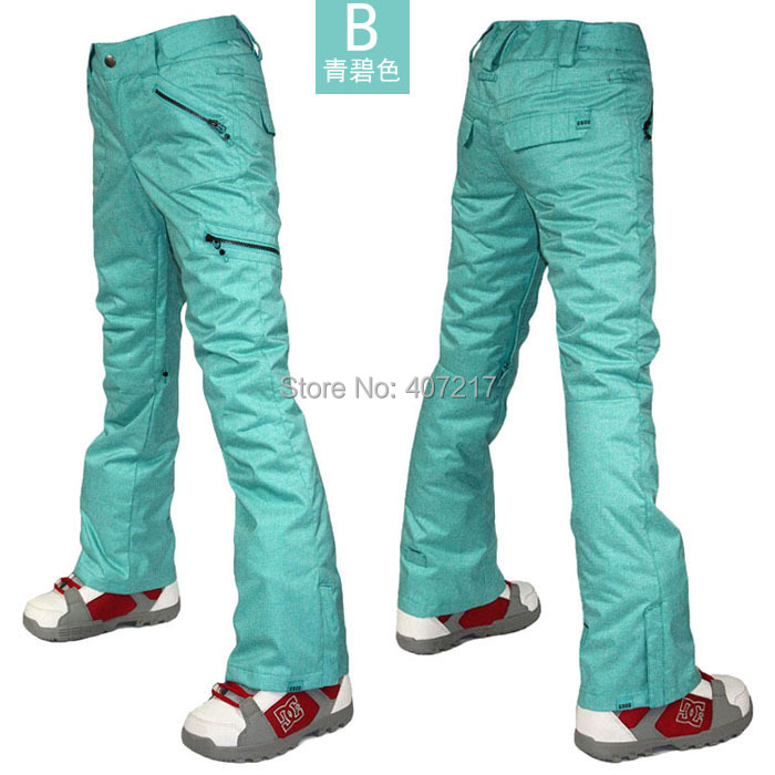 2016 gsou snow womens bluish green ski pants female snowboarding climbing skating pants snow pants waterproof 10K top quality2016 gsou snow womens bluish green ski pants female snowboarding climbing skating pants snow pants waterproof 10K top quality