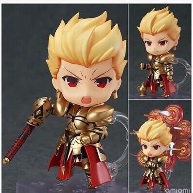 Fate/stay night Nendoroid Gilgamesh 410 Action Figures PVC 10cm brinquedos Collection Figures toys for christmas gift Retail box