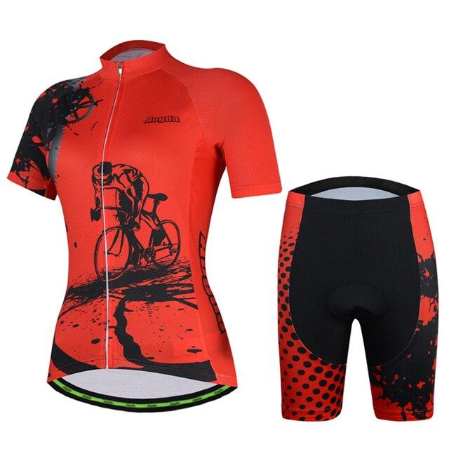 Aogda Ciclismo 2018 Camisa de Ciclismo Definir Mulheres Verão de Manga Curta Desgaste de Ciclismo Roupas de Ciclismo roupas bicicleta Respirável Quick Dry