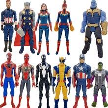 цена на Marvel Avengers Endgame Thanos Spiderman Hulk Iron Man Captain America Thor Wolverine Action Figure Toys Dolls for Kid