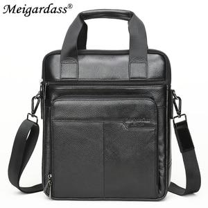 Image 2 - MEIGARDASS Genuine Leather Business Briefcase Men Travel Shoulder Messenger Bags Male Document Handbags Laptop Computer Bag