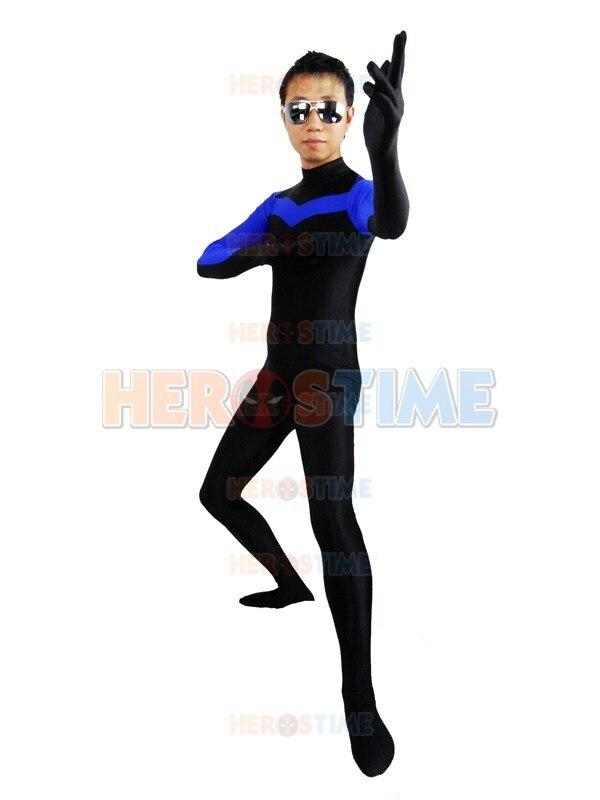 (SUP951)Nightwing Spandex Lycra Superhero Cosplay Zentai Suit Halloween Party Costume