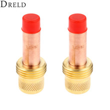 DRELD 2pcs TIG Collets Body Gas Lens 45V25 1.6mm 1/16 for Welding Torch Consumables SR PTA DB WP 17 18 26 Series 2PK