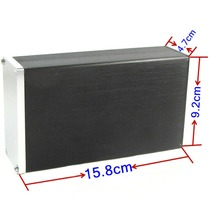 0905 Full Aluminum Enclosure / case / Preamp box/ PSU chassis DIY Breeze Audio цены
