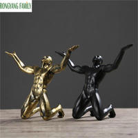 Nordic Creative Geometric Modern Sculpture Simple Resin Movement People Abstract Art Statues Cafe Decoration Home Accessories