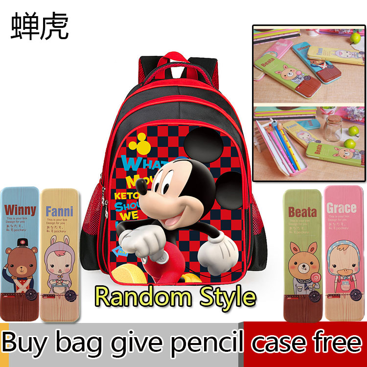 2016 new kids Mickey Minnie mouse backpack children's school bag,new toddler cartoon backpacks bag mochila for girl gift 40cm new lovely mickey mouse and minnie mouse plush toys stuffed cartoon figure dolls kids christmas birthday gift