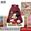 2016 new kids Mickey Minnie mouse backpack children's school bag,new toddler cartoon backpacks bag mochila for girl gift