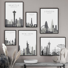City Map Paris London New York Las Vegas Wall Art Canvas Painting Nordic Posters And Prints Pictures For Living Room Decor