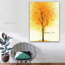 Modern Large landscape oil painting Handmade tree Picture Hand Painted Abstract Oil Painting Canvas Wall Art decor