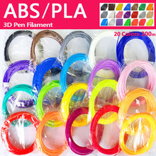 pla/abs 1.75mm 20 colors 3d pen filament pla abs plastic rainbow wire
