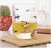 Shipping Cup Glass Cup Cute Polar Polar Bear Zakka Penguins Creative Couple Transparent Tea Cup
