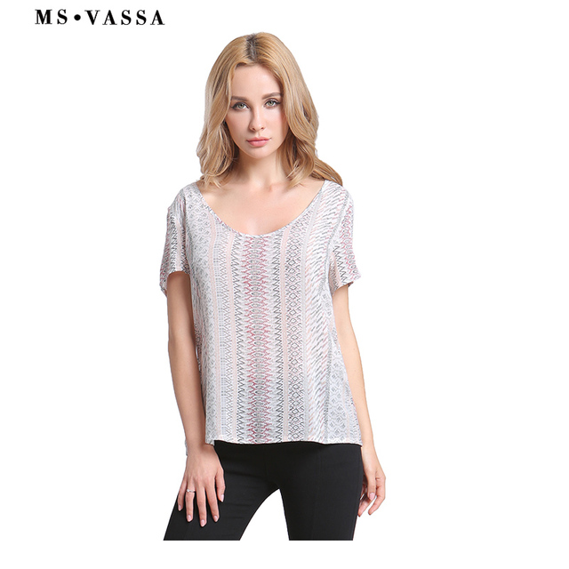 Tees Striped T-shirt Short Sleeve for Women  3