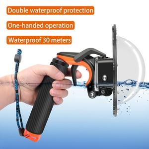 Image 2 - Su geçirmez Dome Port GoPro Hero için 7/ 6/ 5 siyah dalış su geçirmez konut Case şeffaf kubbe kapağı gopro aksesuarları