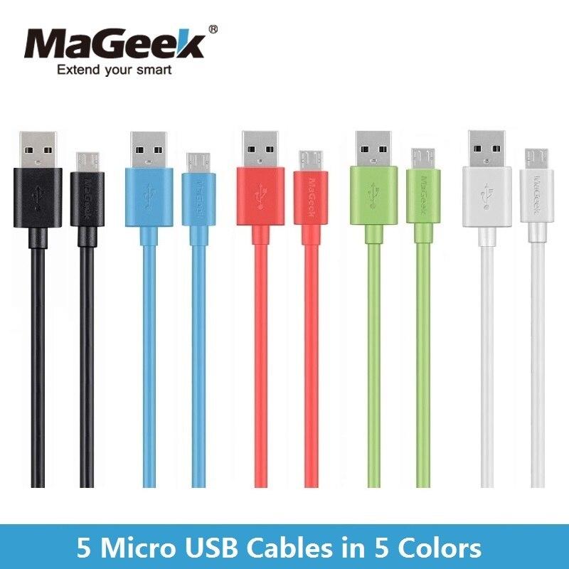 bilder für [5-farben Paket] MaGeek 1,0 mt * 5 Micro-usb-kabel Schnellladung Handy Kabel für Android Samsung Galaxy S7 S6 Huawei Xiaomi