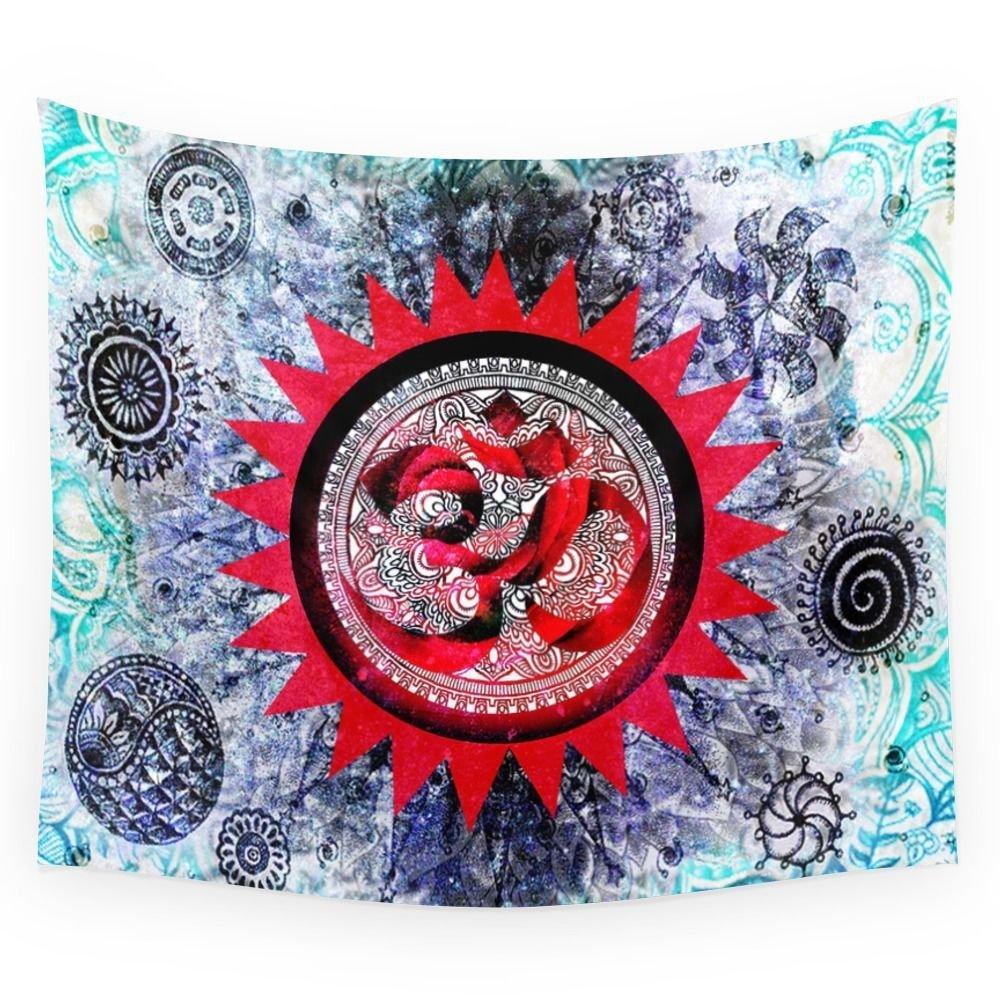 Indian Mandala Tapestry Hippie Wall Hanging Lotus Colorful Printed Bohemia Bedspread Beach Mat Yoga Mat Blanket Table Cloth