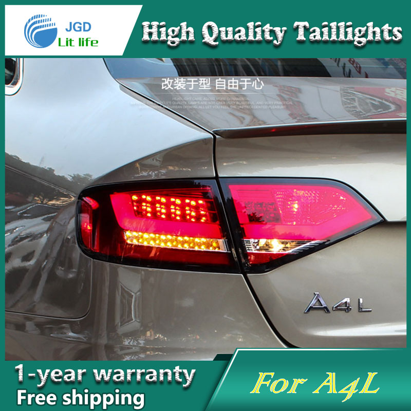 Car Styling Tail Lamp case for Audi A4L Tail Lights LED Tail Light Rear Lamp LED DRL+Brake+Park+Signal Stop Lamp 2pcs 12v 31mm 36mm 39mm 41mm canbus led auto festoon light error free interior doom lamp car styling for volvo bmw audi benz
