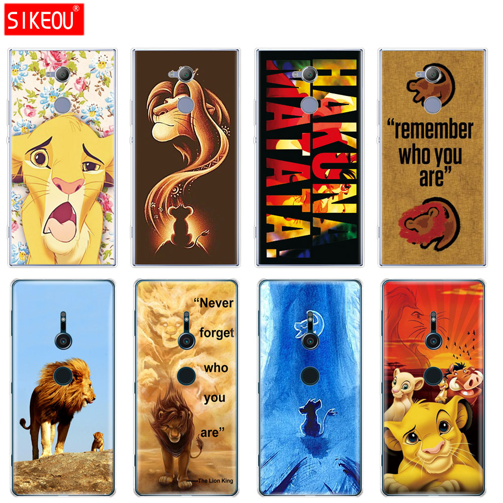 silicone Cover phone Case for sony xperia XA1 XA2 ULTRA PLUS L1 L2 XZ1 XZ2 compact XZ PREMIUM <font><b>Lion</b></font> <font><b>King</b></font> <font><b>Hakuna</b></font> <font><b>Matata</b></font> image