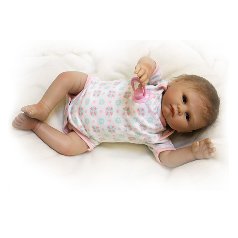 Handmade Rooted Mohair Reborn Babies 20'' Soft Silicone Cloth Body Model Doll Kits Toy Realistic Reborn Baby Dolls Xmas Gifts 2016 cotton body reborn babies lifelike princess girls doll toy rooted mohair gift for baby reborn poupon brinquedos new year