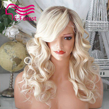 Ombre Brazilian Unprocessed virgin full lace front lace human hair wigs glueless body wave with Natural baby hair free shipping