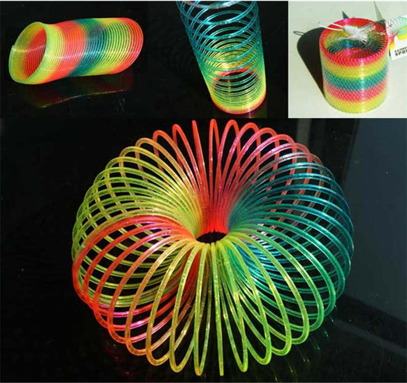 Best Selling,Classic Children's Toys, Glowing Rainbow Ring, Spring Toys, Spring Rings, Wholesale