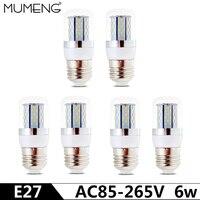 Mumeng E27 E14 Светодиодная лампа 6 Вт свет 78 шт. SMD3014 Ампуле LED 110 В 220 В LED энергосберегающие лампы ампулы для дома люстра
