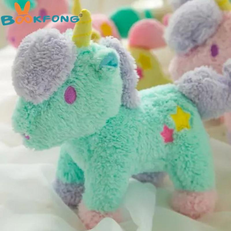 22cm 1pc Cartoon gemini plush unicorn doll Horse toy sucker pendant bags pendant kids toys christmas gift