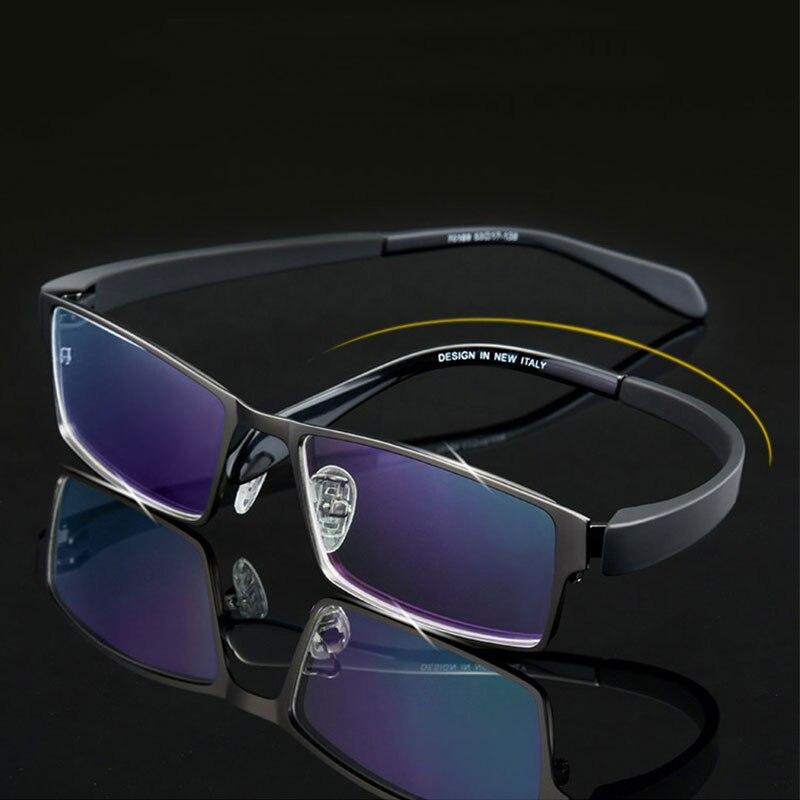 Männer Titanlegierung Brillengestell für Männer Brillen Flexible Tempel Beine IP Galvanik-legierung Material, 4 Arten, 4 farben