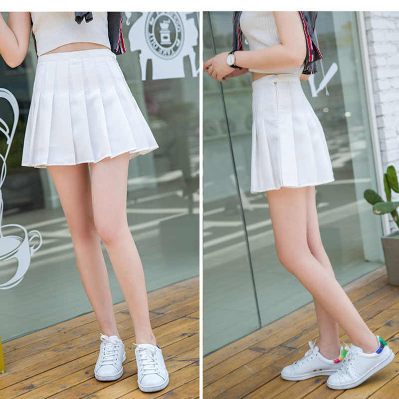 女の子プリーツテニススカートハイウエストパンツスリム制服女性ティーンでチアリーダーバドミントンスカート