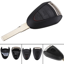цена на Car Key Replacement Flip Fob Remote Key Shell Case Cover 3 Buttons For Porsche Boxster Cayman 911/997 Carrera 911 Targa