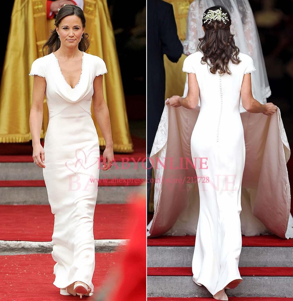 Trauzeugin Pippa Middleton Royal brautjungfernkleider puffärmeln ...