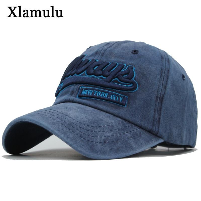 Xlamulu Men   Baseball     Caps   Hat Snapback Hats For Women Washed Vintage Embroidery Bone Male   Cap   Trucker Casquette Gorras Dad Hat