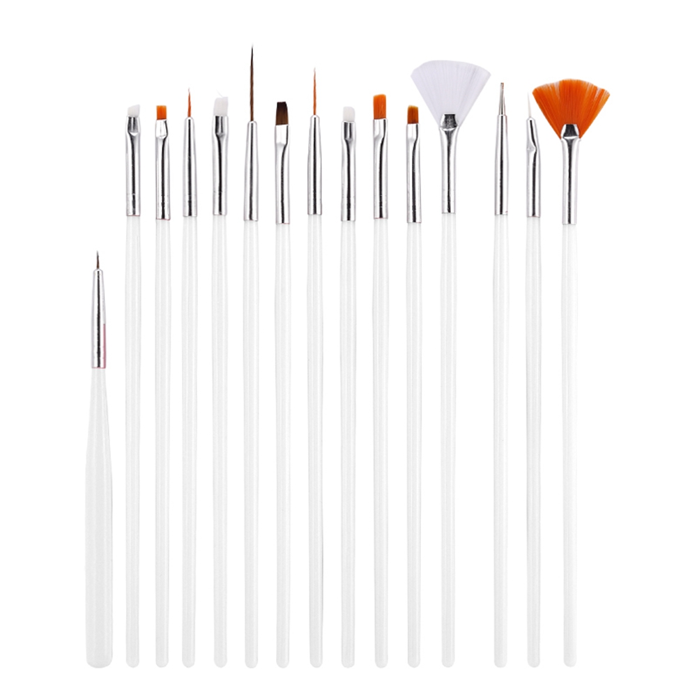 Professional Nail Art Brush For Natural False And 3D Beauty Nail Brush 15Pcs/set Nail Art Polish Painting Draw Pen Brush