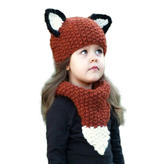 2017 Kids Hats Scarf Set Winter Crochet Hat And Scarf For Boys Girls