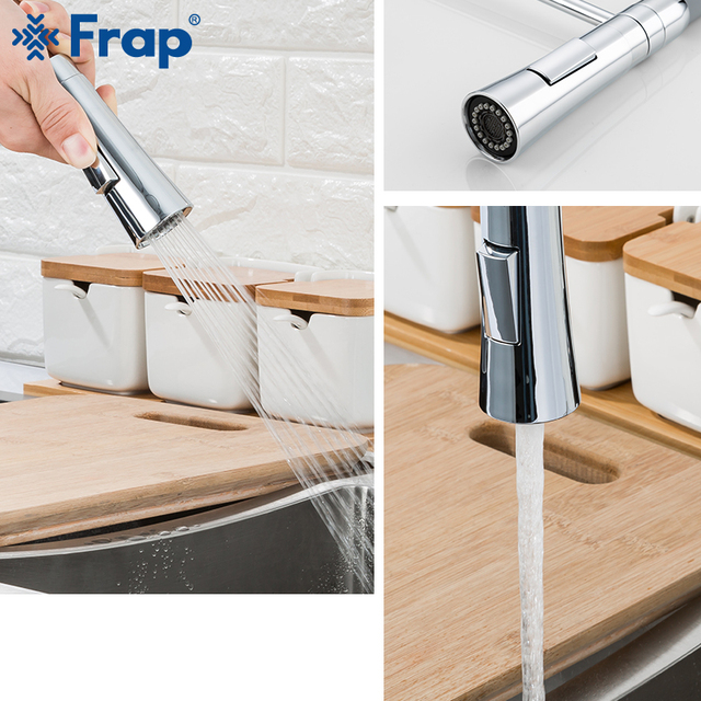 Frap Kitchen Faucet 2 Function Spout Kitchen Mixer Faucet Cold and Hot Water Sink Faucet Pull Down Water Taps F4452-6/7/8 1