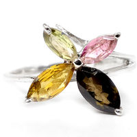 Genuine Tourmaline Ring 100 925 Sterling Silver Size Q1 2 2 6 G AR0078