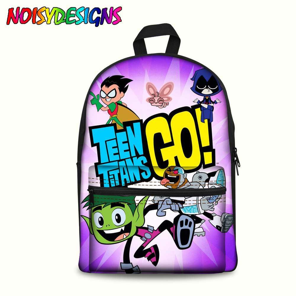 Teen Titans Go Stampato Delle Ragazze Dei Capretti Zaini Del Fumetto Teen Titans Go Action Figure di Grande Capacità Borse da Scuola mochilas infantil