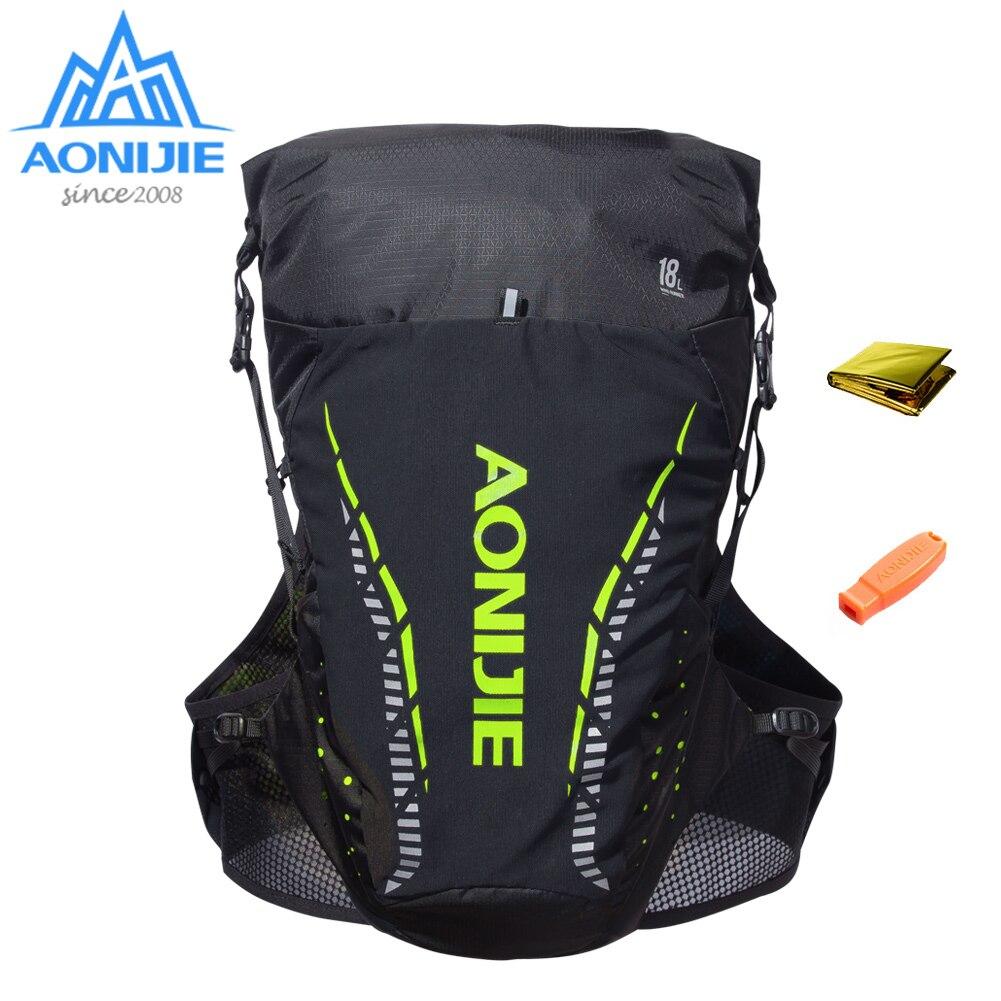 Aonijie c943 18l ao ar livre leve hidratação mochila saco colete 2l bexiga de água caminhadas acampamento correndo maratona corrida