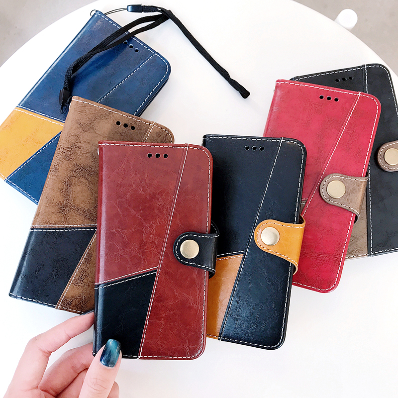 Luxury Magnetic Stitching Leather Case For XiaoMi Note 5 Pro Case Wallet Button Hybrid Leather Pouch Phone Cases Bag Fundas